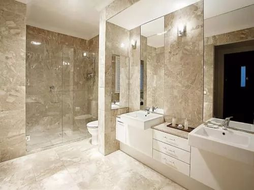 27 Wonderful Pictures And Ideas Of Italian Bathroom Wall Tiles: ديكورات حمامات موردن مميزة بالصور