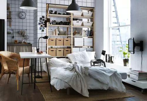 ديكورات وتصميمات اثاث ايكيا لغرف النوم الصغيرة   سحر الكون