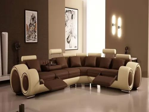 for Brown and cream living room wallpaper