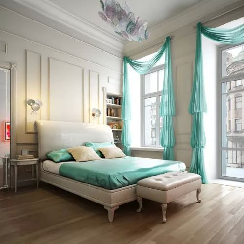 احدث موديلات ستائر غرف نوم للعرسان بالصور