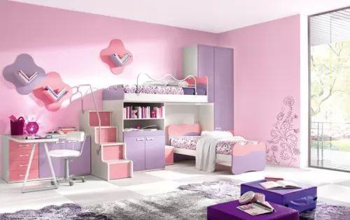 افكار ديكورات غرف نوم بنات رائعة بالصور   سحر الكون