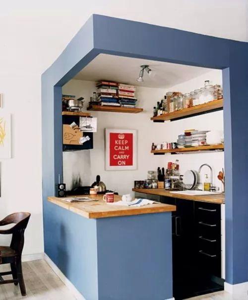 افكار وتصميمات مطابخ صغيرة المساحة بالصور
