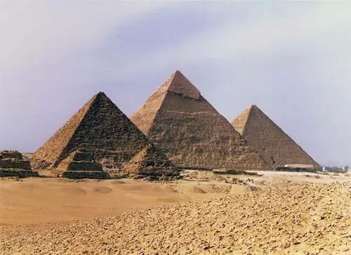 How was the Egyptian pyramids built?