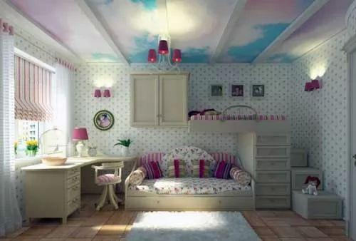 for Chica azul dormitorio deco