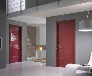 أشكال أبواب شقق وأبواب غرف خشبية مودرن