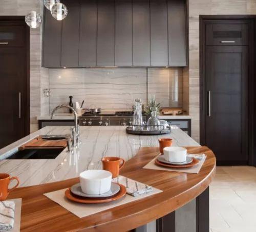 احدث افكار ديكور رخام المطبخ بانواعه المختلفة