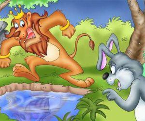 قصص اطفال جديدة - قصة الارنب الذكي والاسد الغبي