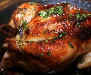 طريقة عمل الدجاج المشوي بالفرن