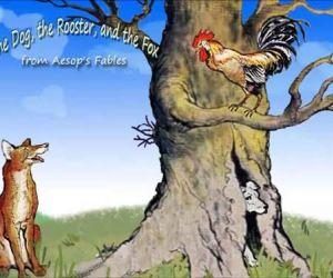 قصة الكلب والديك ومكر الثعلب