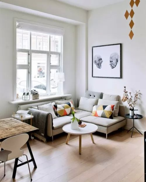 صور - افكار ديكورات غرف جلوس صغيرة لاستغلال مساحتها