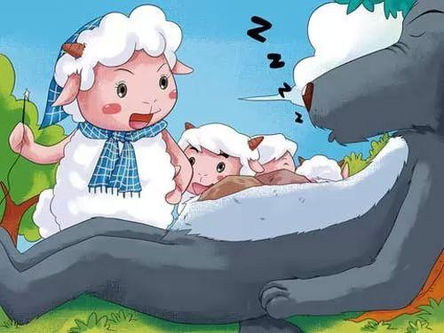 قصص اطفال قبل النوم - قصة الذئب والسبع خرفان