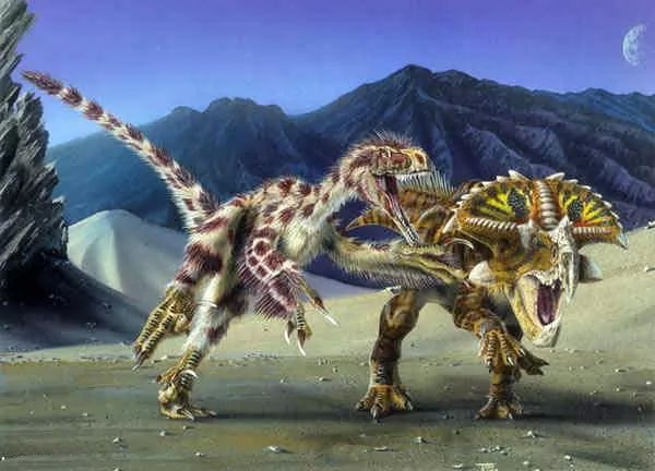 صور - معلومات عن ديناصور فيلوسيرابتور - اللص السريع