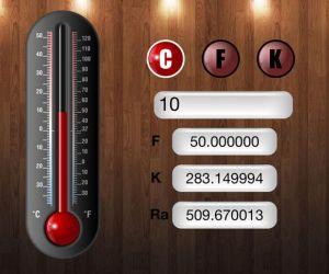 حاسبة تحويل درجات الحرارة