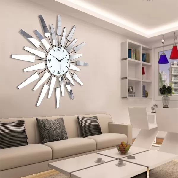 decorating a large living room wall ديكورات واشكال ساعات حائط مودرن سحر الكون 25924