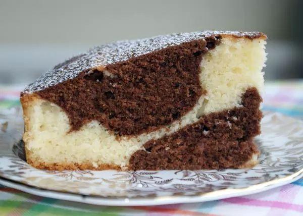 طريقة عمل الكيكة الرخامية الماربل كيك بالفيديو