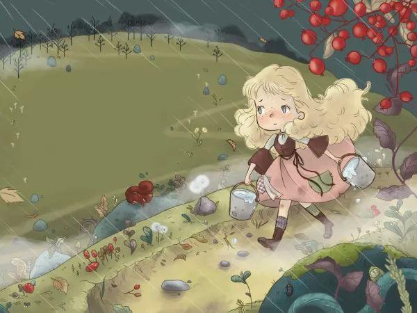 الفتاة والماس حكايات الاطفال