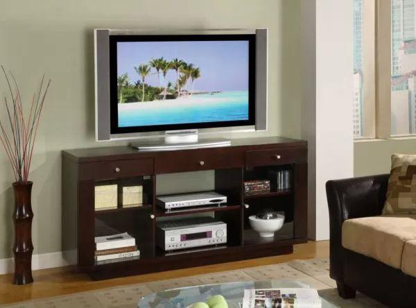اشكال طاولات تلفزيون بلازما شيك جدا بالصور