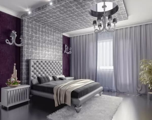اجمل ديكورات غرف نوم فضية بالصور   سحر الكون
