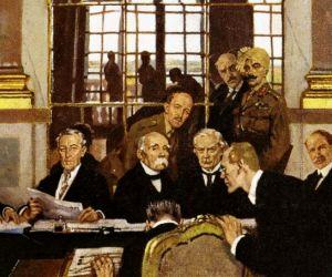 معاهدة فرساي التي انهت الحرب العالمية الاولى