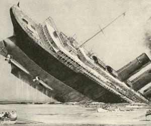 ما قصة غرق سفينة لوسيتانيا التى اشعلت الحرب العالمية الاولي ؟