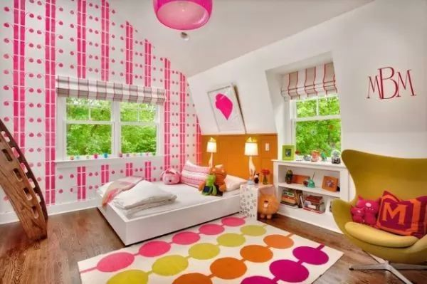 تصاميم غرف نوم الاطفال المودرن بالوان جذابة