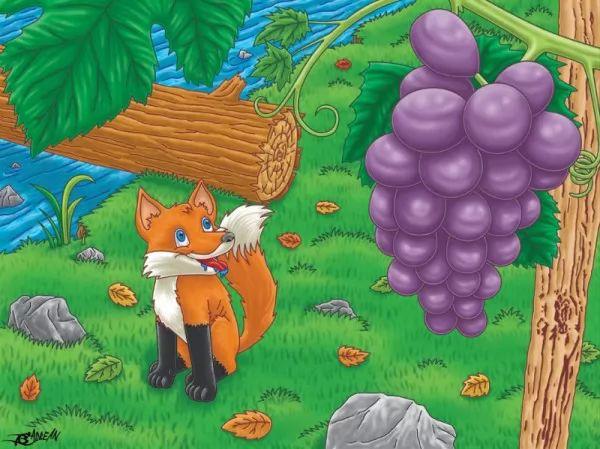 قصة الثعلب والعنب من حواديت الاطفال الرائعة