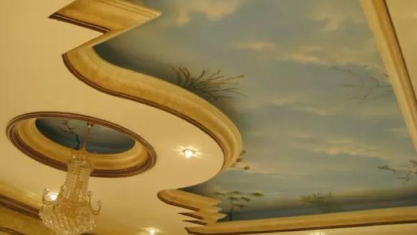ديكورات جبس 2018 على هيئة لوحة فنية خاطفة للانفاس