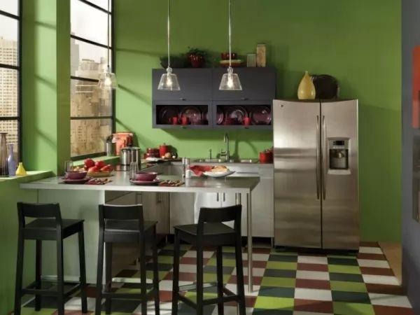اختيار اللون الاخضر من افضل اختيارات الوان المطابخ
