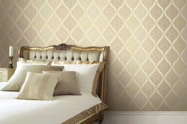 ورق جدران 2018 يتناسب مع الاثاث الذهبى فى غرف النوم