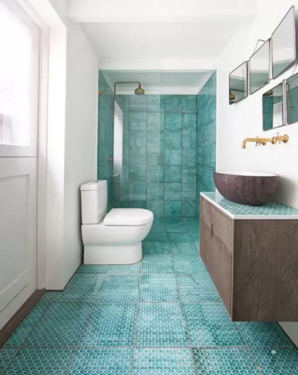 تصاميم بلاط الحمامات تشبه قشور الاسماك