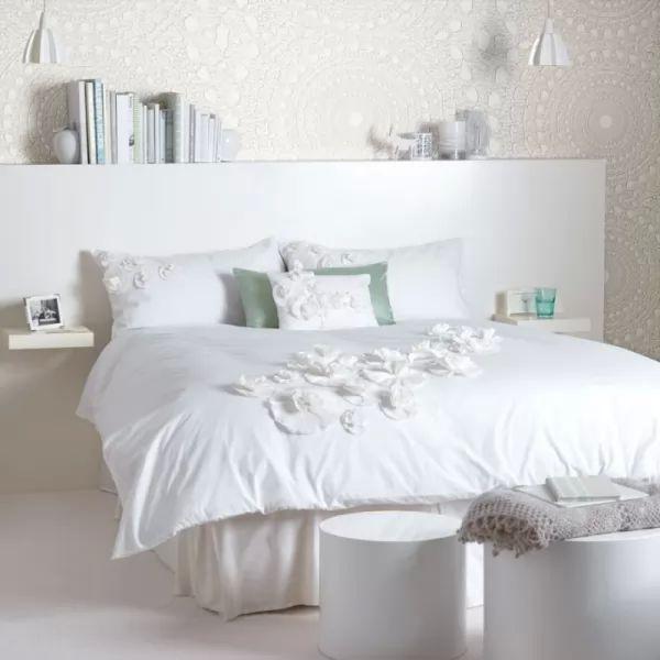 اللون الابيض من الوان غرف النوم الناجحة