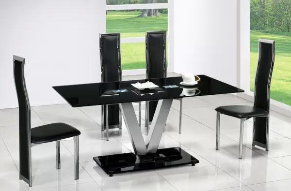 تصاميم طاولات الطعام المصنوعة من المعدن