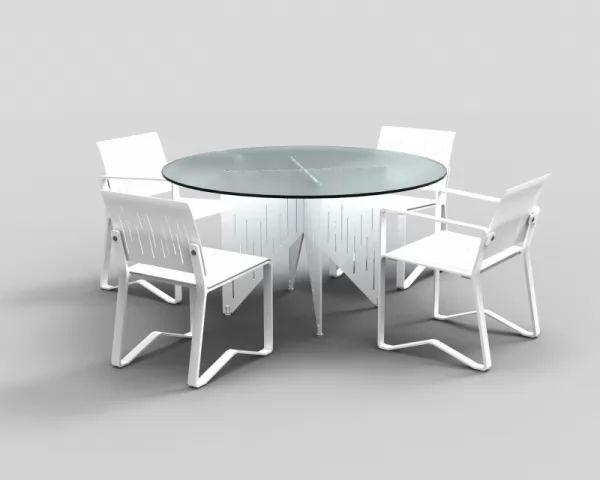 تصاميم طاولات الطعام دائرية صغيرة