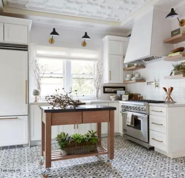 أجمل أشكال وتصميمات بلاط المطابخ
